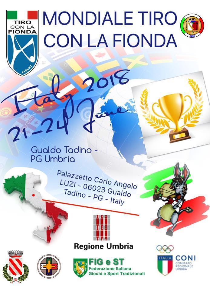 Афиша Чемпионата Мира по стрельбе из рогаткам в Италии