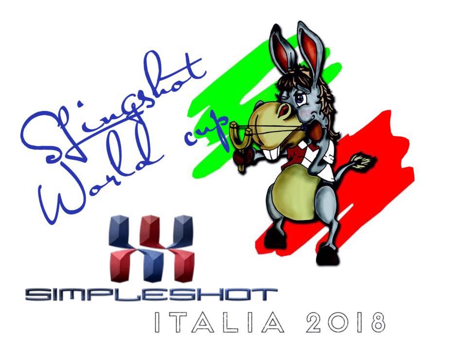 Баннер чемпионата мира по стрельбе из рогатки в Италии 2018
